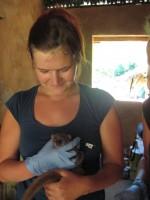 Melanie Seiler Me with sportive lemur