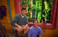The Kratts and Jovian in Animal Junction. Photo courtesy of the Duke Lemur Center.