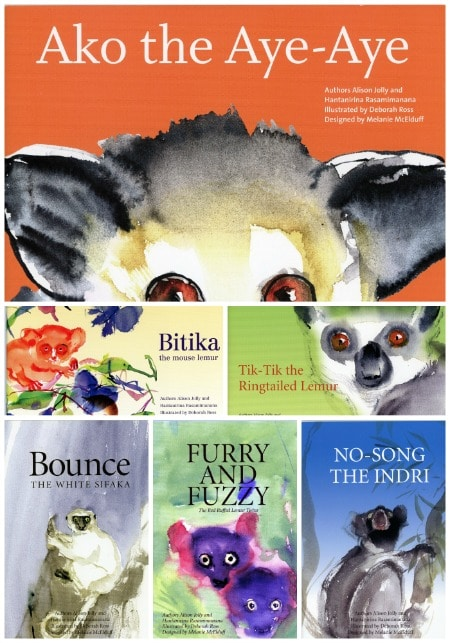 Books from the Ako Project by the Lemur Conservation Foundation.