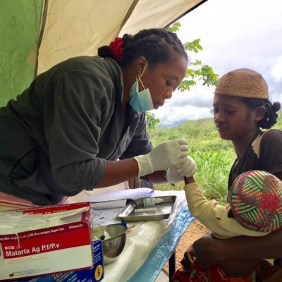 CVB's community health team visits 20 villages around #Ranomafana National Park, providing them with free healthcare services and especially helping to diagnose and treat malaria. Photo courtesy of Centre ValBio's Facebook page.