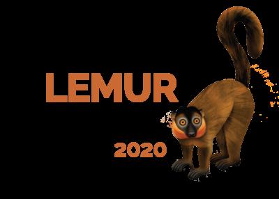 2020 World Lemur Festival logo with collared brown lemur