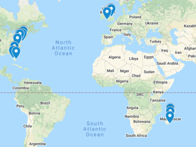 2020 World Lemur Festival Events Map