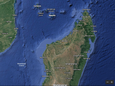 Google Earth image of Madagascar
